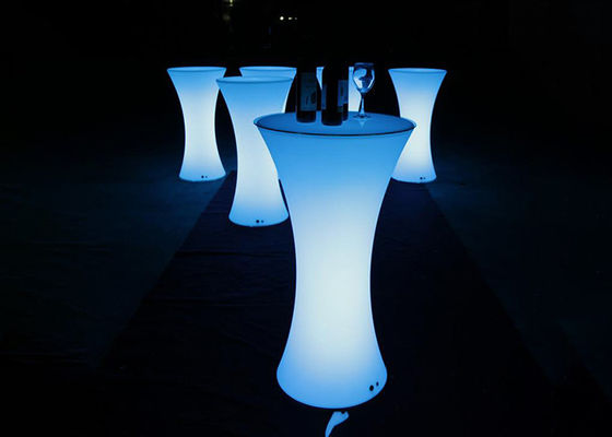 Cina Multi Color LED Cocktail Table / Meja Cocktail Menyala Untuk Coffee Party Hotel Bar pemasok