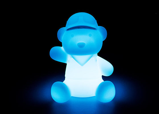 Cute Bear Shape Solar LED Night Light Ringan Dengan Shock Resistant