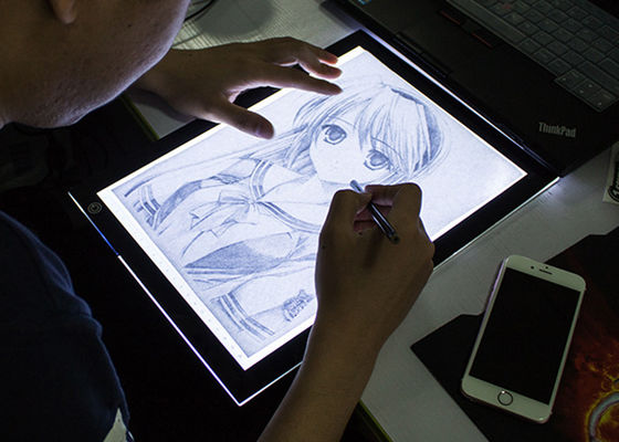 Dimmable Brightness LED Tracing Board Seni Kerajinan Menggambar Stensil Membuat Sketsa Animasi